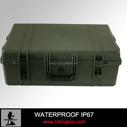 ABS Material Hard Plastic Case with Trolley Portable Military Case /Tsunami Case