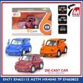 Mini coche modelo de promoción escala 1:38 tire hacia atrás la función con puertas abiertas de metal de juguete camión