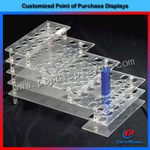 Custom clear acrylic lipstick tabletop display stand