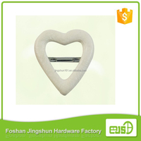 Fashion hot-sale Heart-shaped aluminum cloth belt buckle