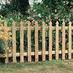 wooden design garden fence