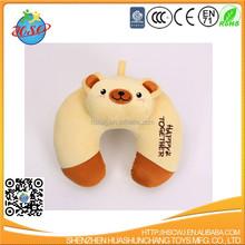wholesale promotional custom cute baby comfort children animal u shape neck memory foam Travel pillow
