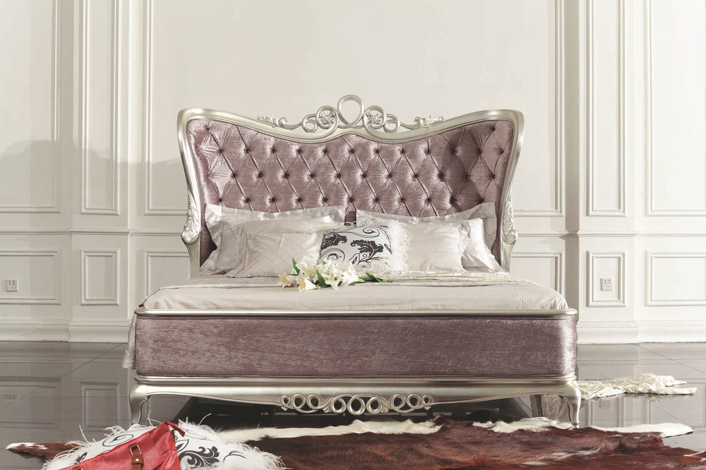 Royal classic princess double bed for wedding buy royal for Princess style bedroom furniture