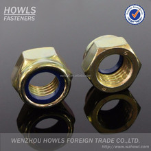 DIN985 DIN 982 lock nuts /UNC/UNF white ring/blue ring class4/class6/class8/ grade2 nylon hex nut( M3-M48)