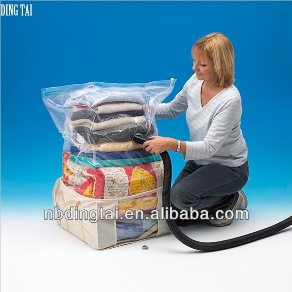 ถุงเก็บผ้าห่มเสื้อผ้า/เอนกประสงค์จัดตู้/สูญญากาศที่บีบอัดถุงสำหรับผ้าห่ม, เสื้อผ้า, ผ้าห่ม, ยัดของเล่น