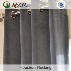 2015 hot sale microfiber fabric blackout polyester suede curtain fabric