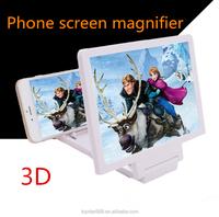 Universal Foldable Mobile Phone Screen Magnifier, 3D Mobile Phone Magnifier with Stand