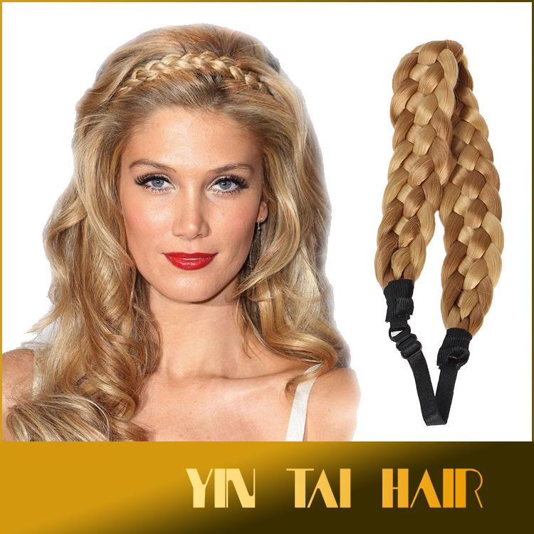 Fake Hair Plait Headband Blonde Best Clip In Hair Extensions