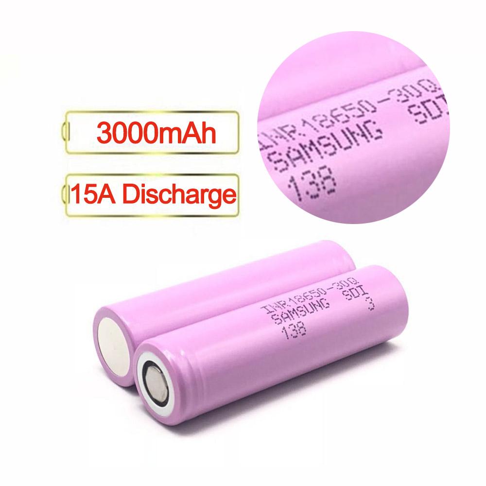 Rechargeable Li-ion 3000 mAh 3.7 V 18650 30Q <span class=keywords><strong>Batterie</strong></span> De Vé<span class=keywords><strong>lo</strong></span> Électrique