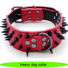 Cool spiked PU leather pet dog heavy dog collar