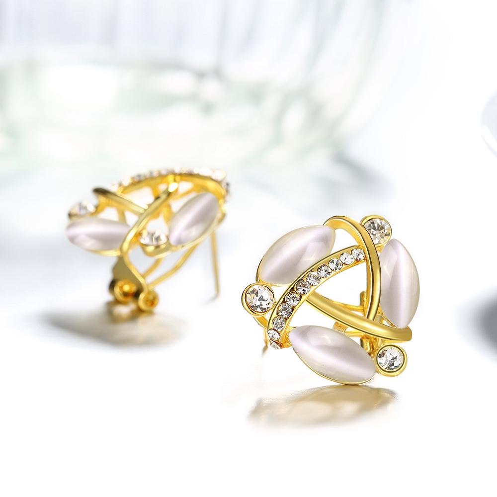 Saudi Arabia Jewelry Fashion 24 Carat Small Gold Bali Hanging Earrings Designs For Girls