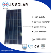 130W-160W A grade poly solar panel,manufacturer mono or poly solar panels