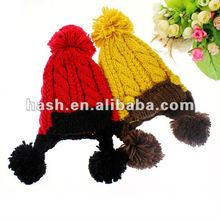 Fashion cable knit winter hat with earflaps (MSH0005)