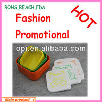 2013 OEM Cute and Lovely Plastic,PP 3 in 1 lunch box set
