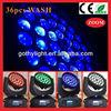 DMX control 10W 36pcs led movinghead / 4in1 zoom wash