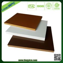 no paint and glue, being safe to human being beige pvc foam board outdoor furniture plastic sheet