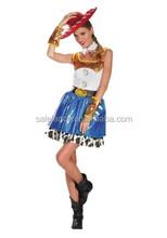 Costume sexy cowgirl travestimenti per le ragazze qawc- 2917