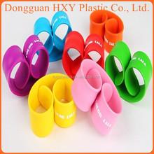 HXY Manufacturer custom silicone slap bracelet/silicon slap wristband glow in dark slap bracelet