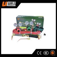 Ningbo UWELD New American Type Portable Full Brass Oxygen Welding Set for Welding