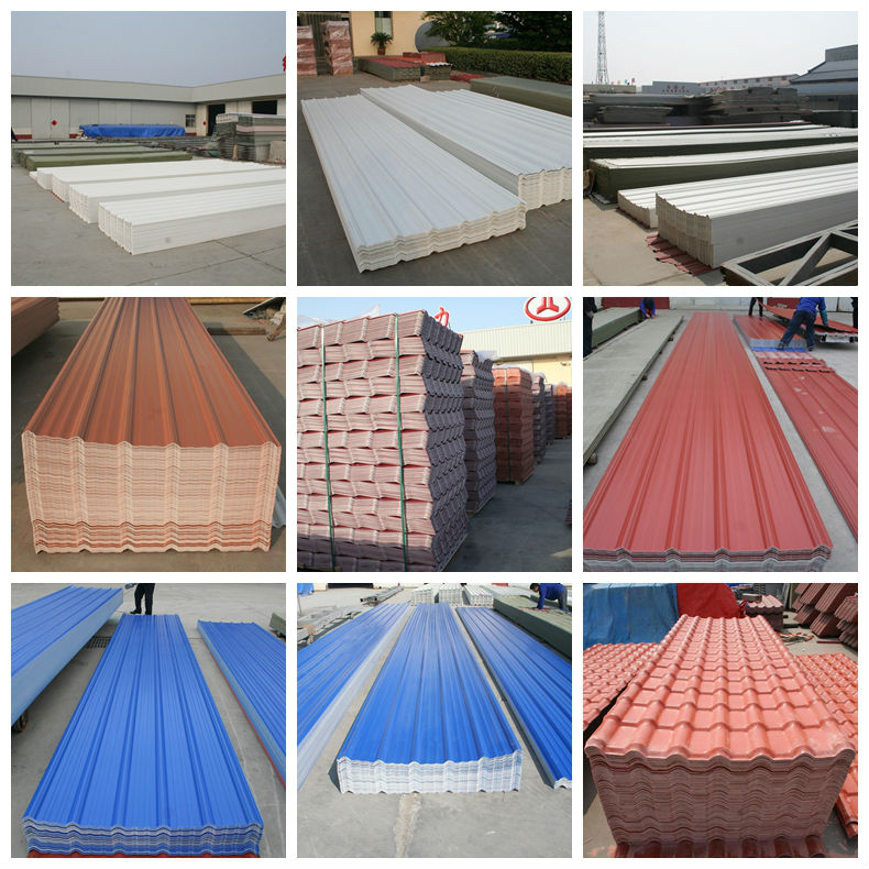 Color Corrugated Plastic Roofing Sheet Upvc Material Width
