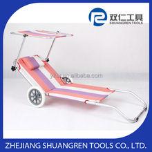 De aluminio de la playa silla con ruedas