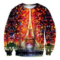 MSS539 Fashion 2014 Christmas ornament 3D printed sweatshirts sweater for women