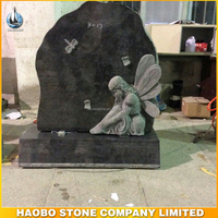 child angel headstone with base