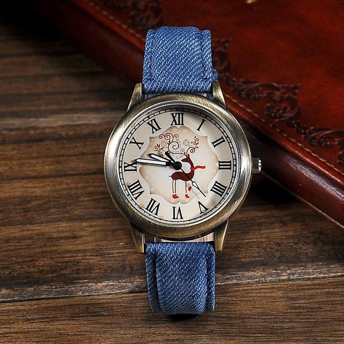 สไตล์เกาหลี2015คาวบอยแฟชั่นนาฬิกา, สมัยโบราณกวางromaด้านนาฬิกาสร้อยข้อมือ