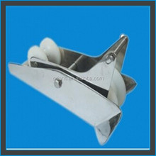 Mirror Polished Bow Roller for Bruce Anchors - Stainless Steel Marine Hardware