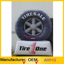 customized attractive inflatable tire advertising, tire for sale, inflatable tire balloon