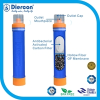 Diercon 1500L Survival straw Outdoor Filter Personal water purifier / pocket Water Filters straw / military water purification