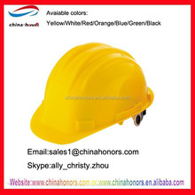 yellow construction safety helmet/HDPE safety helmet