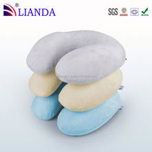 High Quality thin memory foam pillow, neck roll pillow, microbead travel pillow Car Seat Pillow