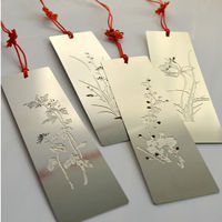2014 new beautiful stainless steel blank 3d custom bookmark