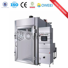 stainless steel Automatic Hydraulic or Gear Sausage fish meat smoked furnace