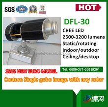 30w LED gobo projector one image rotating around another image for store logo display