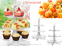 Factory sell 3 tier mini collapsible cake stand