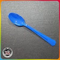 deep blue teaspoon dispasable plastic cutlery tableware