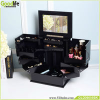 Hot selling black wooden jewelry boxes decorate