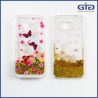 [GGIT] Transparent Quicksand Glitter Star Phone Case , Bling Crystal Liquid Sand Star Phone Case For Galaxy S6 Edge