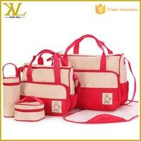 Wholesale 5 pcs per set Diaper Mummy baby bag, Baby changing nappy bag