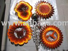 Wind spinner spiral chime garden decoration