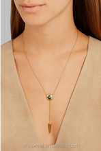 Simple Chain Necklace - Y Lariat necklace in 14K Gold filled