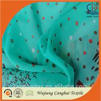 75D fashion patterns printed chiffon fabric/indian chiffon silk fabric
