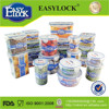 China manufacturer airtight salad plastic food container with lid