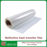 transparent reflective film for textiles