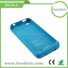 1900mah external wallet battery case for iphone 4 4s