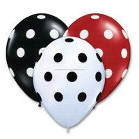 birthday decoration items colored 12inch polka dot printed latex balloon