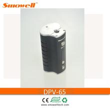 Smowell Shenzhen 2015 mini 65w DPV-65 dual 18650 batteries mod tesla electronic cigarette wholesale
