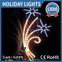 eye-catching warm white christmas led motif lights outdoor sparkling street light falling star glitter led village lights
